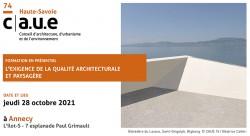 Formation qualité architecturale oct 2021