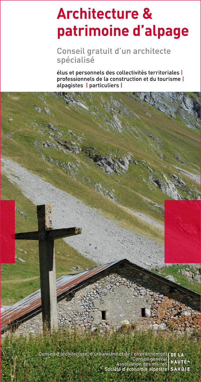 flyer architecture et patrimoine d'alpage