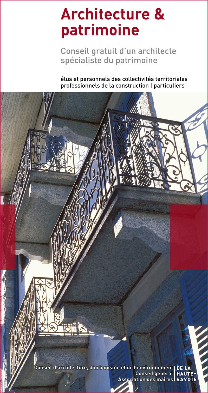 Flyer architecture et patrimoine