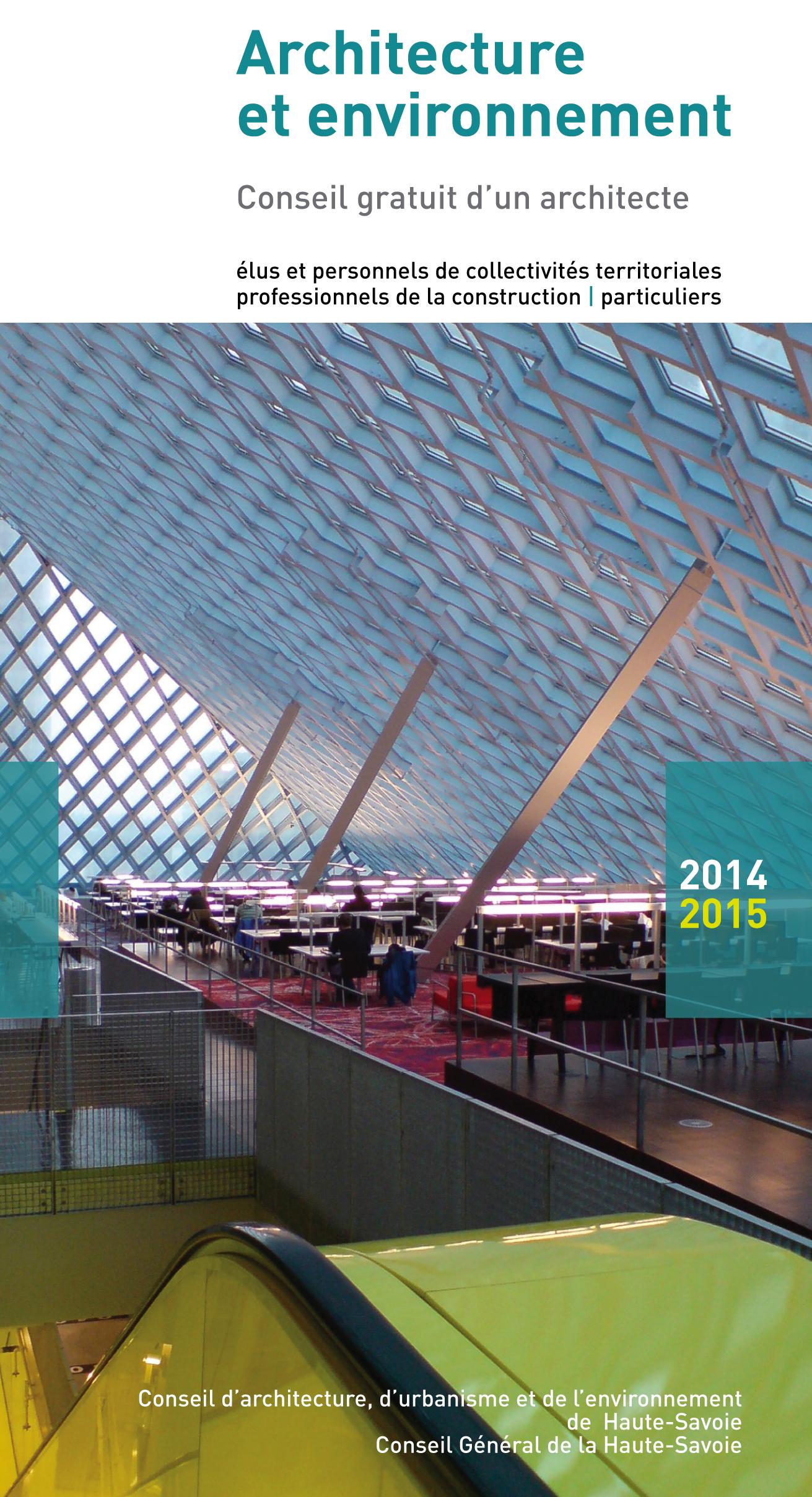 Flyer architecture environnement 2014-2015